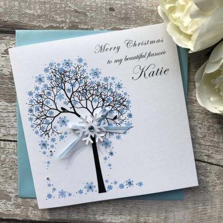 Handmade Christmas Card 'Snowflake Tree'
