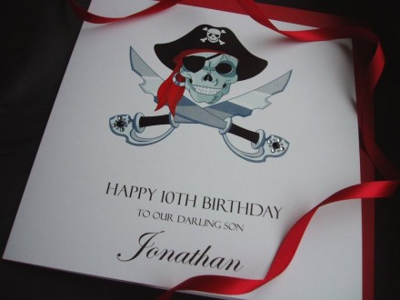 Pirate Scull Birthday Card
