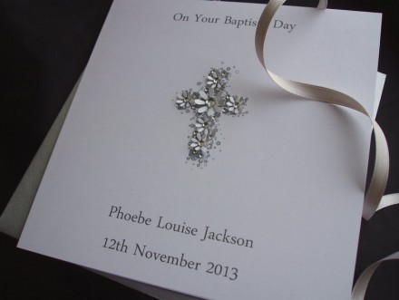 Elegant Christening Cross Card