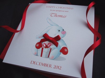 Handmade Christmas Card Rabbit