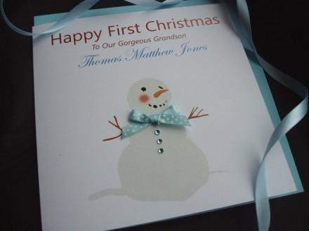 Handmade Christmas Card Snowman