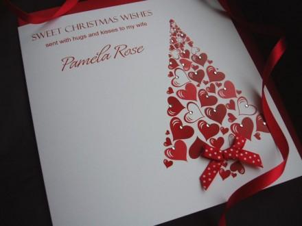 Handmade Christmas Card Tree
