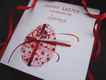 "Handmade Easter Card ""Romantic Egg"""