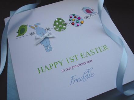 "Handmade Easter Card ""Babies 1st Easter"""