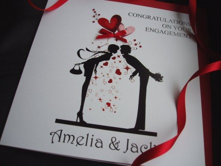 Handmade Engagement Card Couple