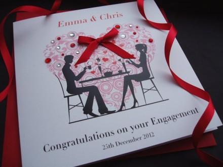 Handmade Engagement Card Heart