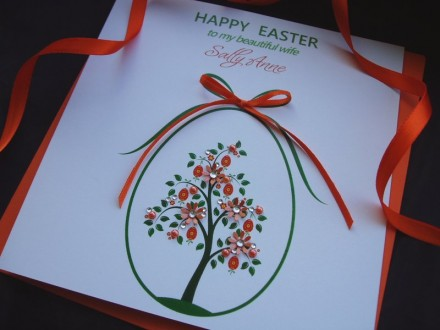 "Handmade Easter Card ""Elegant Tree"""