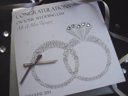 Handmade Wedding Card Wedding Rings