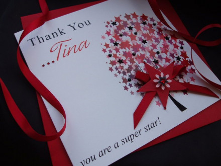 Handmade Thank You Card Star