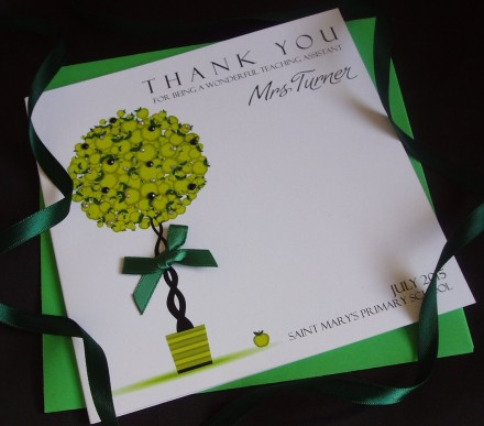 Handmade Teacher Thank You Card