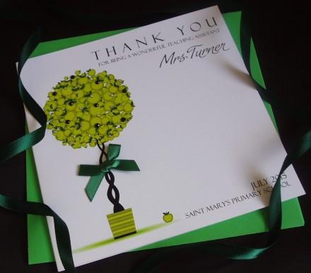 Handmade Teacher Thank You Card