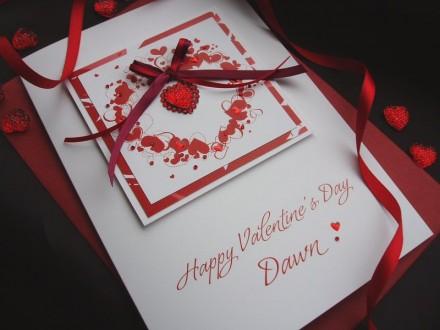 "Handmade Valentines Card ""Heart of Hearts"""