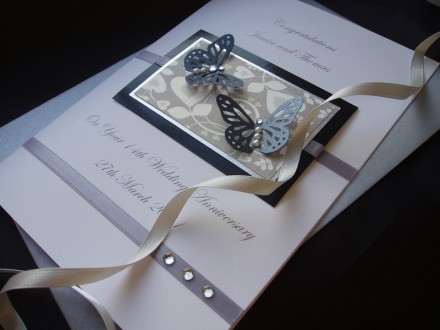 Butterfly Wedding Anniversary Card