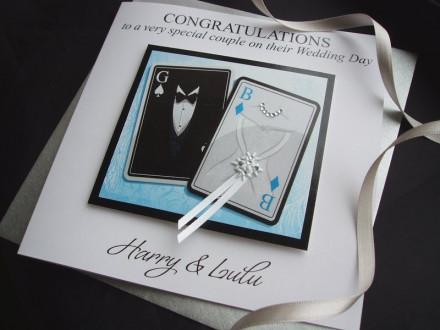 Handmade Wedding Card Couple 'Cards'