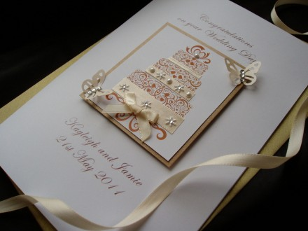 Luxury Handmade Wedding Card Cake