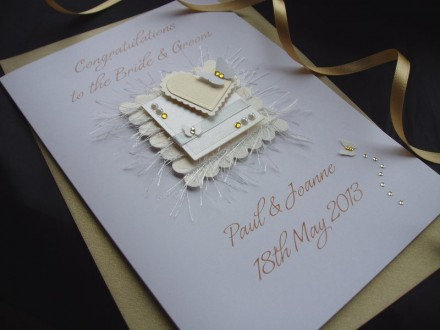 Luxury Handmade Wedding Card