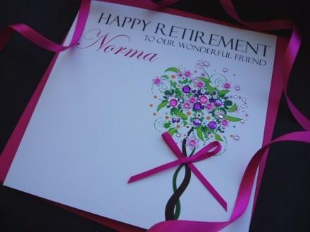 Handmade Personalised Retirement Card