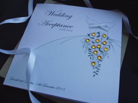 Handmade Wedding Acceptance Card