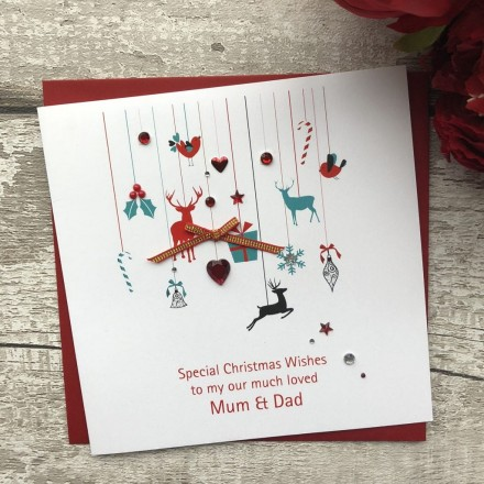 Handmade Christmas Card 'Decorations'