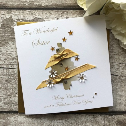 Handmade Christmas Card 'Ribbon Tree'