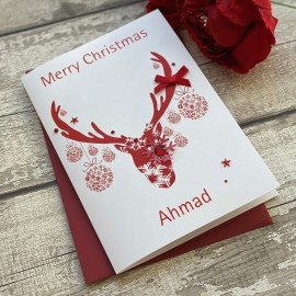 Handmade Christmas Card 'Reindeer'