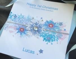 Handmade Christmas Card Snowflake