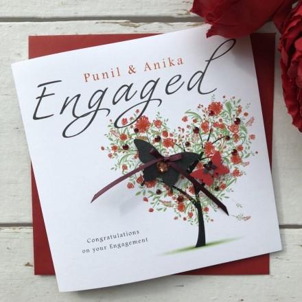 Handmade Engagement Card 'Heart Tree'