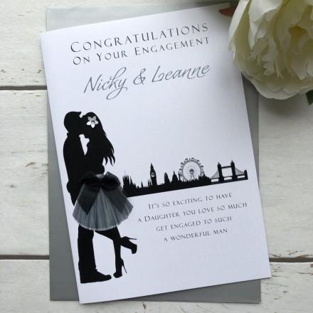 Handmade Engagement Card 'Skyline'