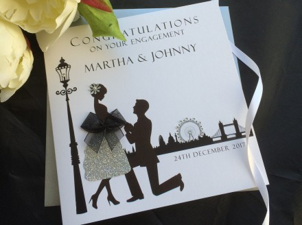 "Handmade Engagement Card ""Proposal"""