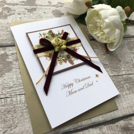 Luxury Handmade Christmas Card 'Cone Wreath'