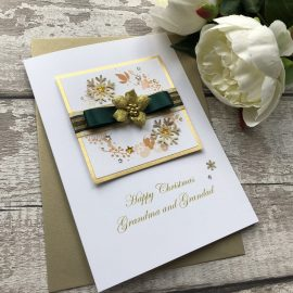Luxury Handmade Christmas Card 'Poinsettia'