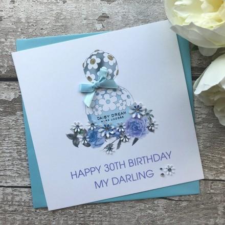 Handmade Personalised Birthday Card 'Daisy Dream'