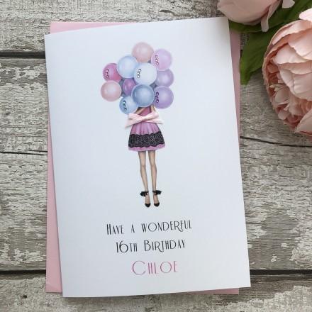 Handmade Birthday Card 'Balloons'