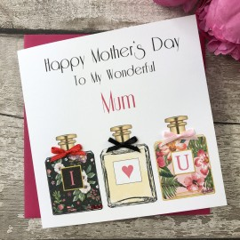 Handmade Mother's Day Card (Trio of Perfumes)