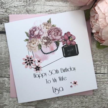 Handmade Birthday Card Designer Florals