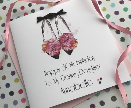 Handmade Birthday Card (Peony Shoes)