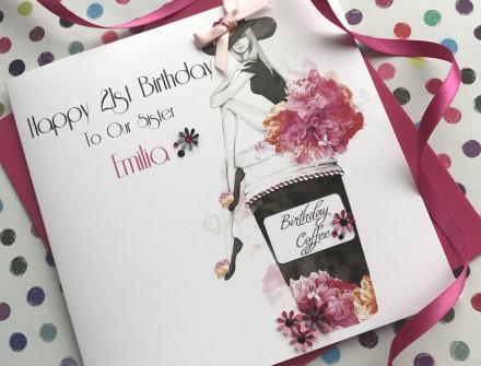 Handmade Birthday Card (Birthday Coffee)