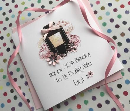 Handmade Birthday Card (Chanel Perfume)