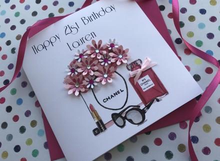 Handmade Birthday Card (Chanel Must Haves)