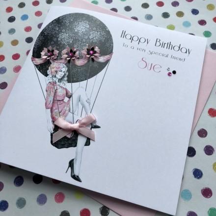 Handmade Birthday Card (Hot Air Balloon)