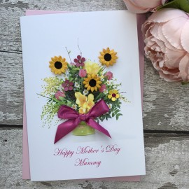 "Handmade Mother's Day Card ""Spring Flowers"""