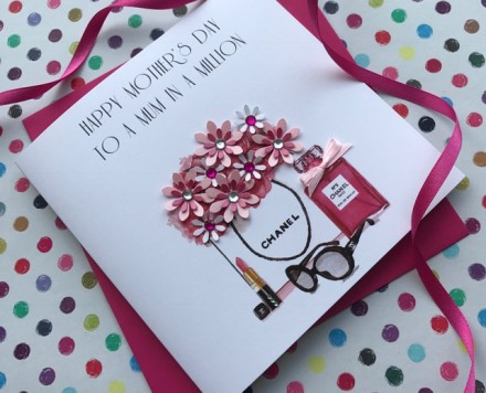 Handmade Mother's Day Card (Chanel Must Haves)