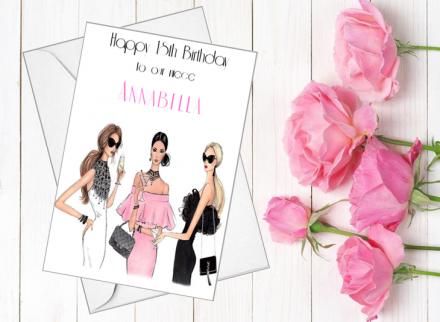 Handmade Birthday Card (Girls Night Out)