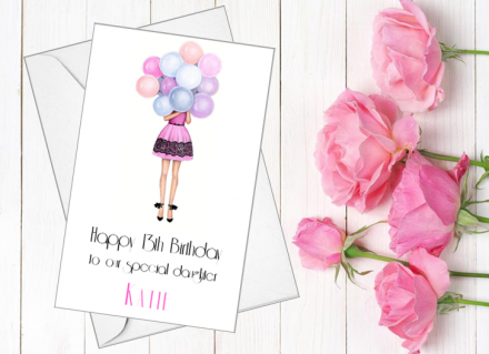 Handmade Birthday Card (Birthday Balloons)