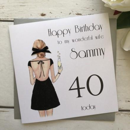 Handmade Birthday Card 'Little Black Dress'