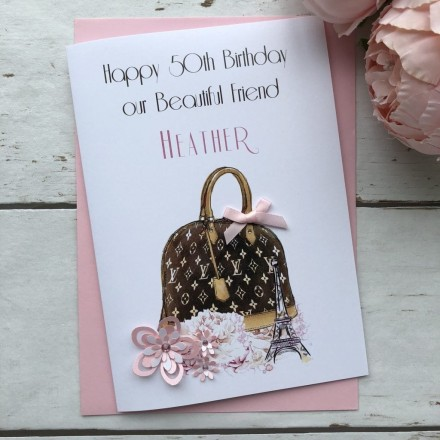 Handmade Birthday Card (Designer Bag)