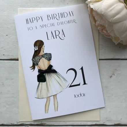 Handmade Birthday Card 'Lace Dress'