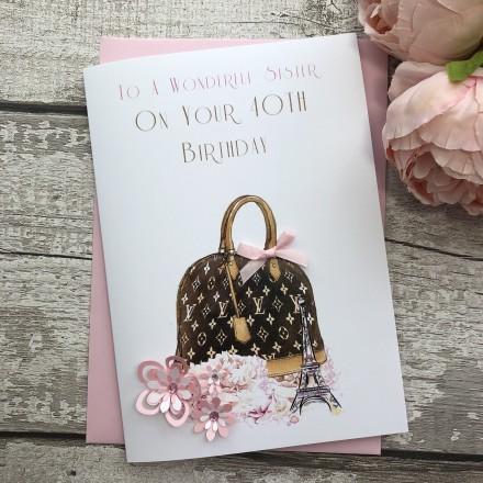 Handmade Birthday Card (Designer Bag)