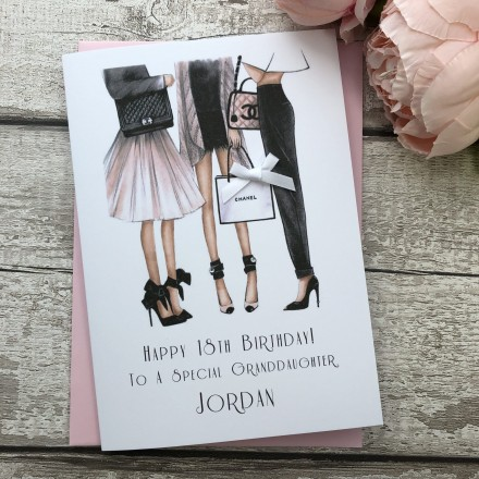 Handmade Birthday Card 'Designer Night Out'