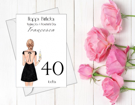 Handmade Birthday Card (That Little Black Dress)